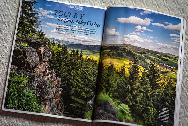 """Image fotografie na dvojstránce červnového vydání časopisu """"Krásný rok"""""""