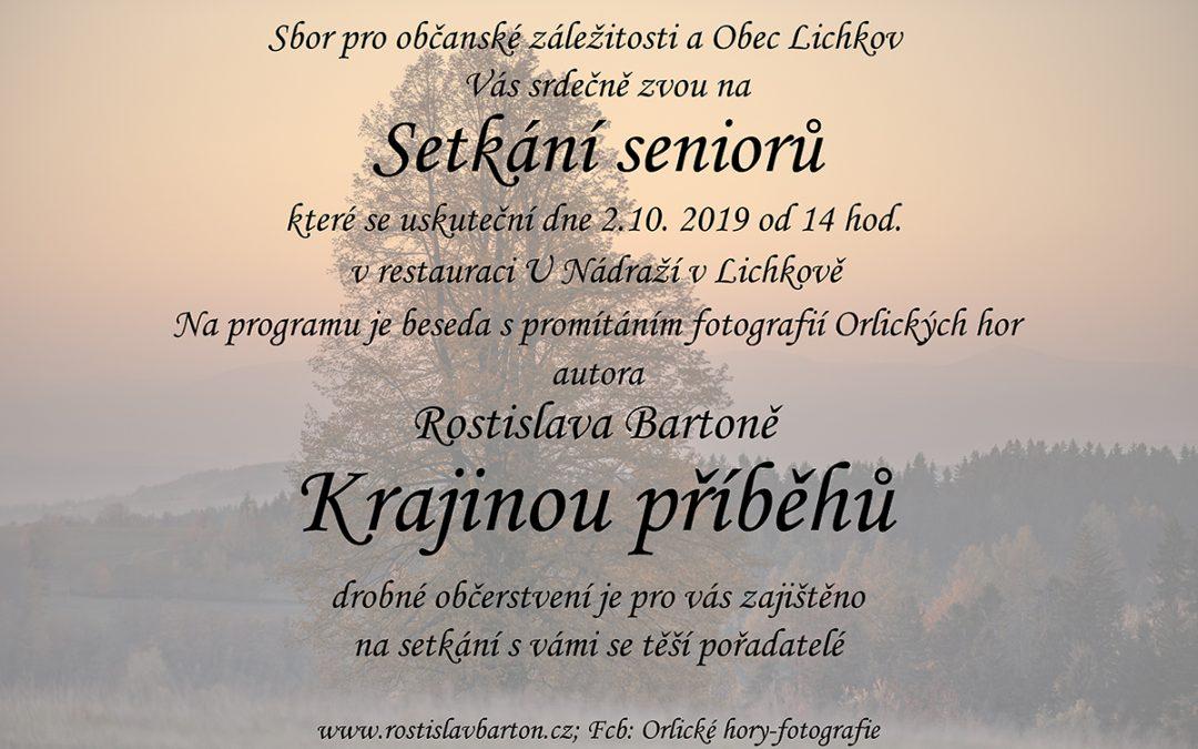 Beseda s promítáním v Lichkově